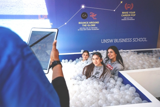 UNSW Business Future students on Open Day