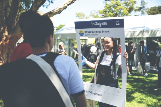 Business School students at UNSW Open Day