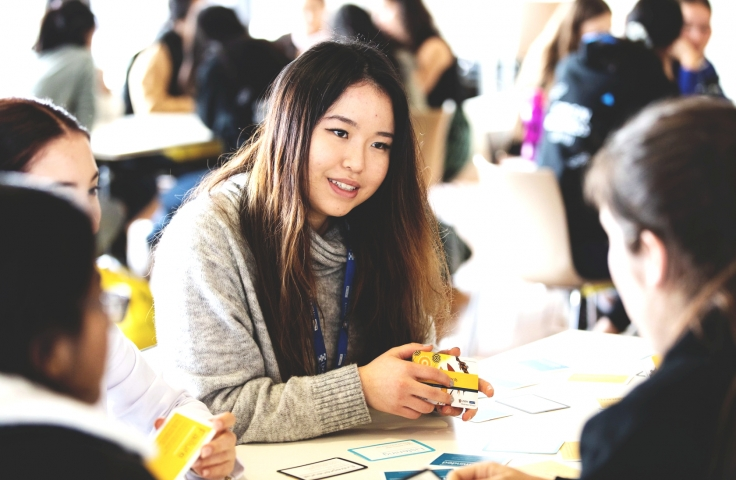 UNSW student at event for marketing