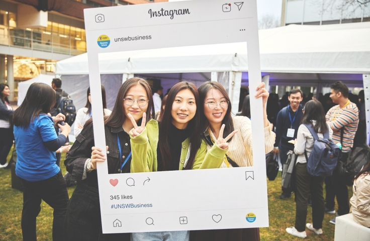 UNSW Students on Open Day
