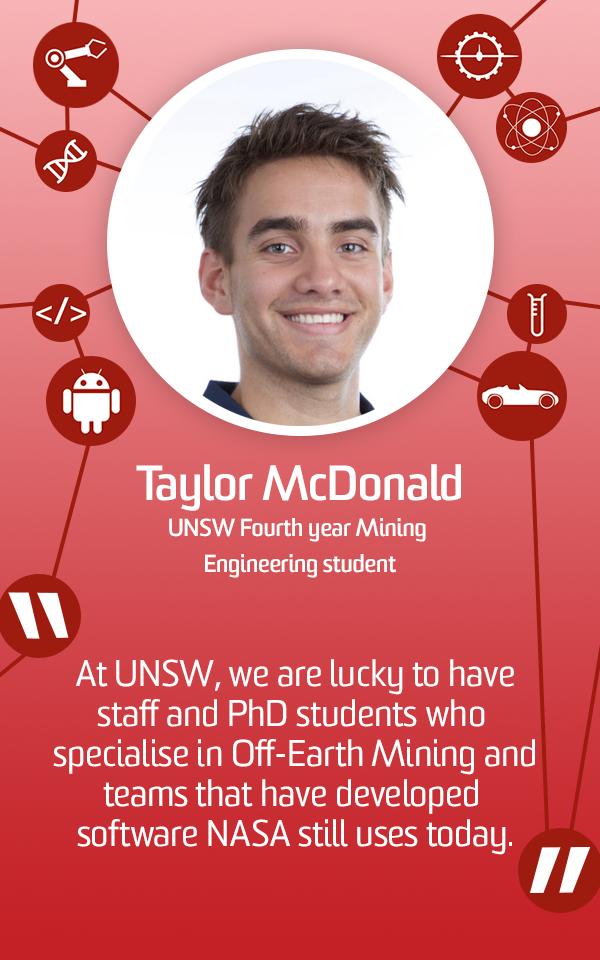 Taylor McDonald, VIP MineX Team member, Fourth year Mining Engineering Student