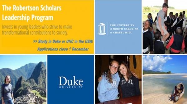 Robertson Scholars Leadership Program Scholarship information evening