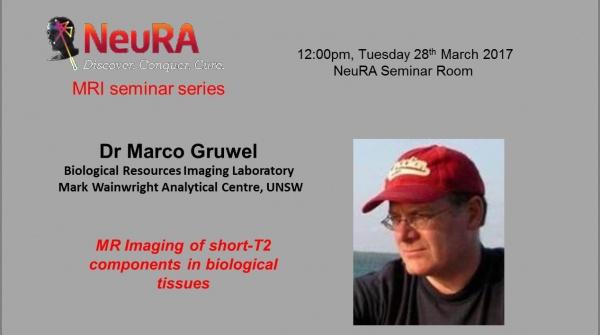 NeuRA MRI seminar serie: MR Imaging of short-T2 components in biological tissues