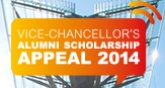 Vice-Chancellor's Alumni Scholarship Appeal 2014 image color