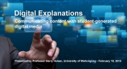 Digital Explanations: Communicating content with student-generated digital media image