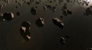 Swarming past asteroids image